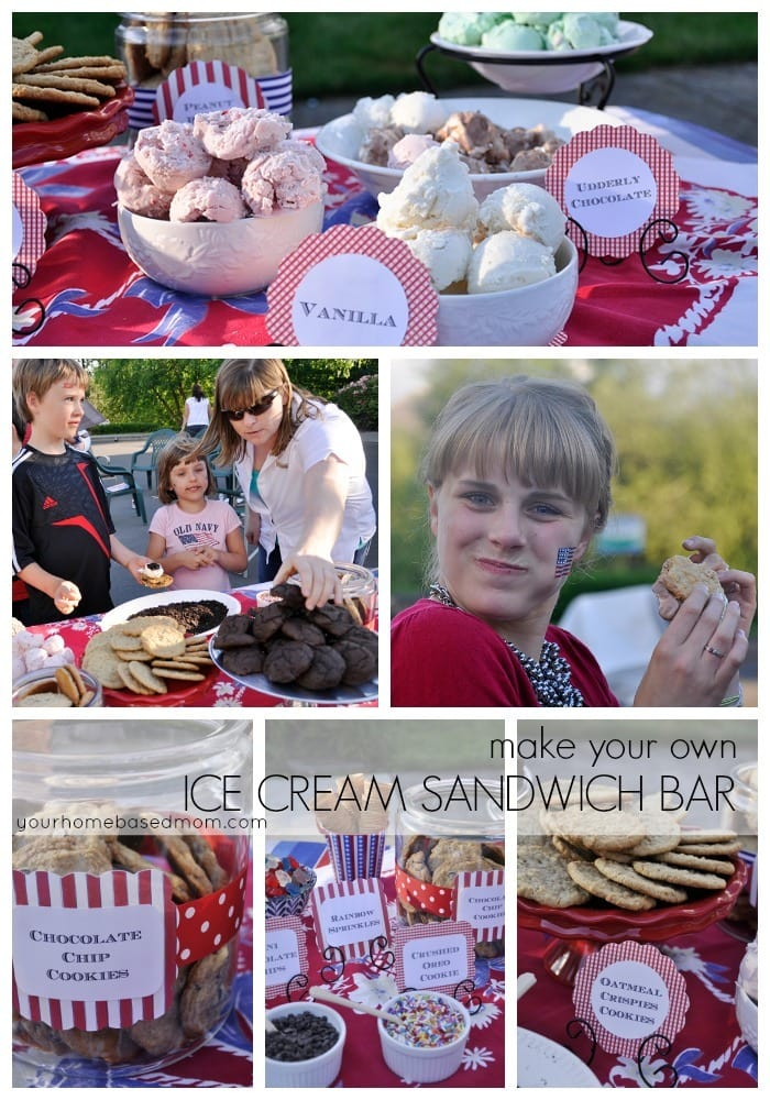 Make Your Own Ice Cream Sandwich Bar is guaranteed to be a hit at your next party