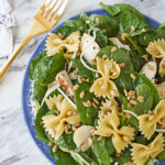 asian spinach salad in a bowl