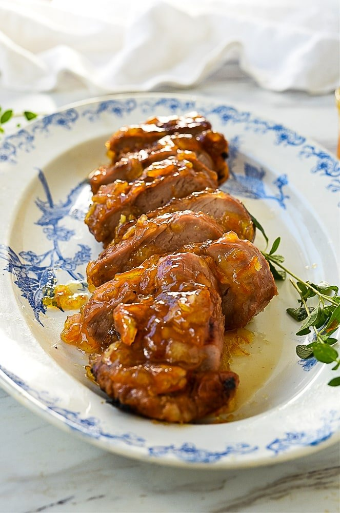 sliced pork tenderloin