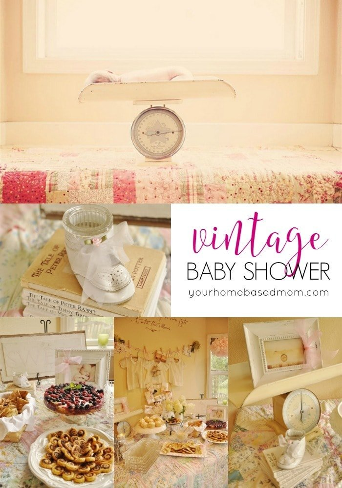vintage baby shower baby shower ideas from your homebased mom