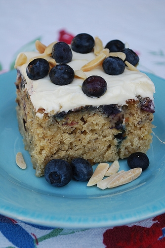 Blueberry Banana Cake with Lemon Cream Cheese Frosting - your ...