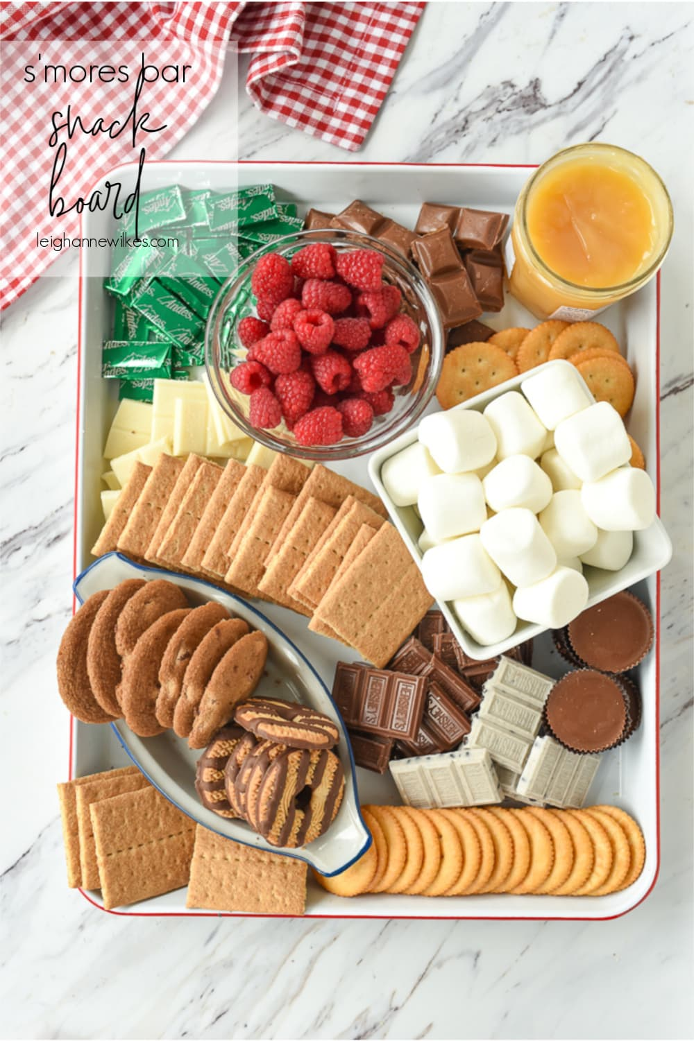 s'mores snack tray
