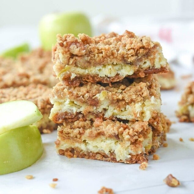 Sour Cream Apple Bars from Your Homebased Mom