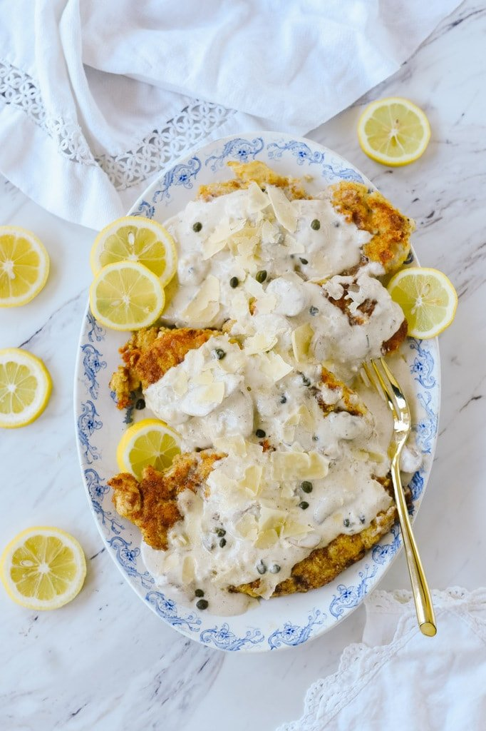 Chicken with lemon cream sauce