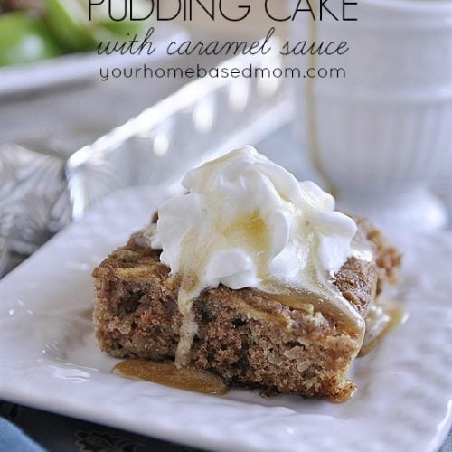 Apple Pudding Cake with Caramel Sauce