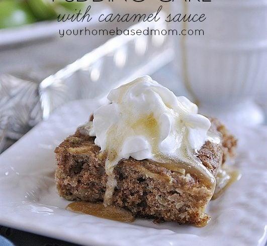 Apple Pudding Cake with Caramel Sauce