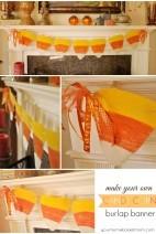 Candy Corn Burlap Banner