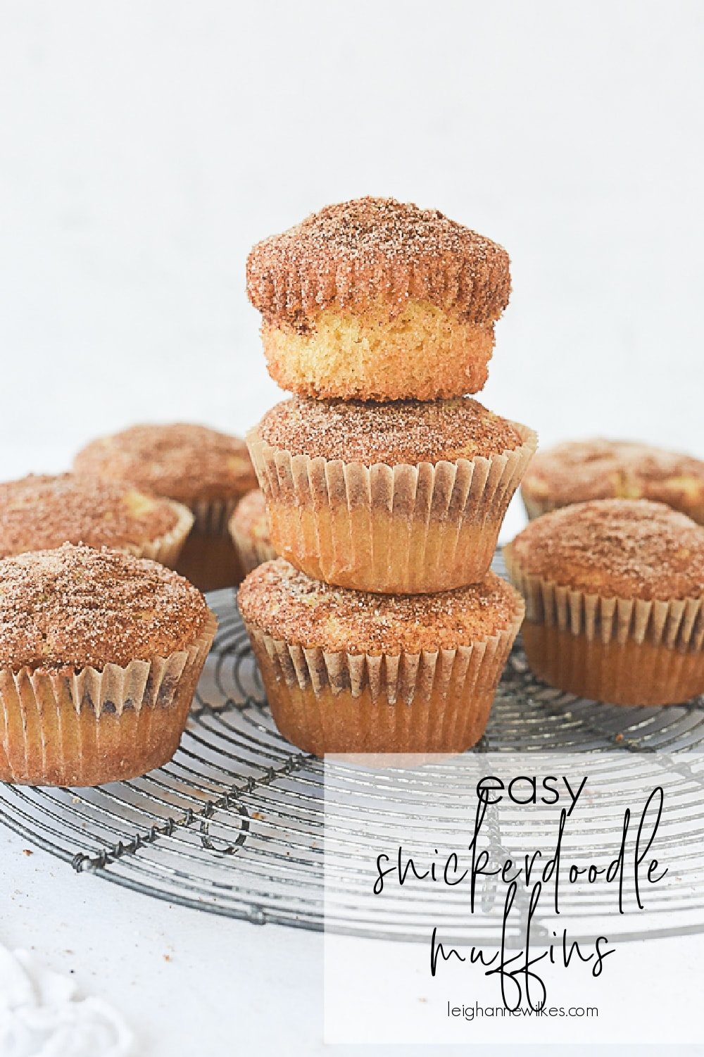stack of muffins