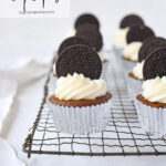oreo cupcakes on a cooling rack