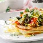 flatbread taco with olives