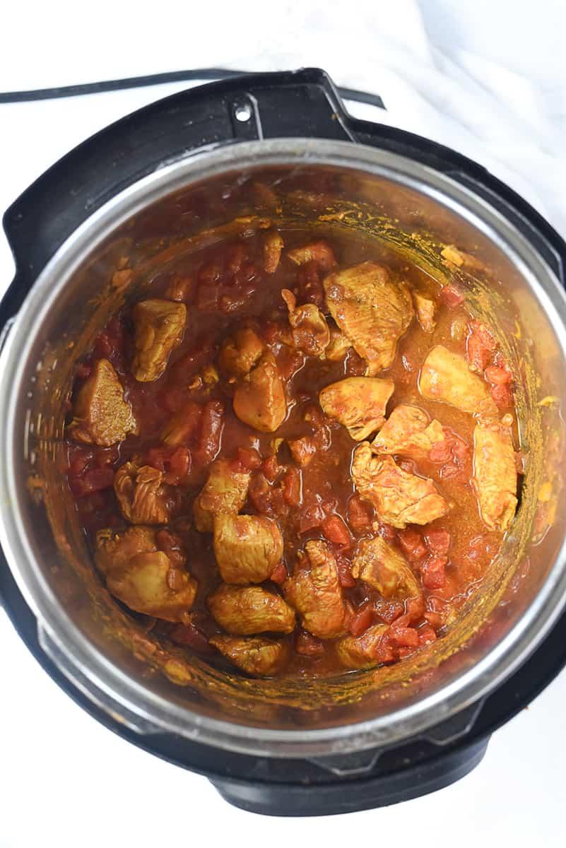 chicken tikka masala inside instant pot