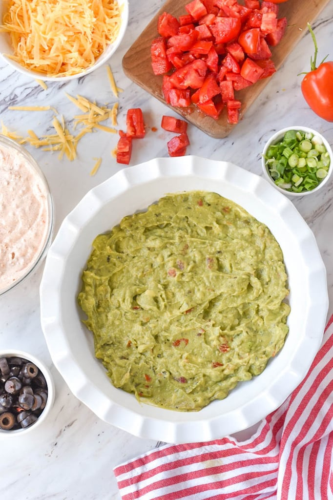 guacamole layer of seven layer dip