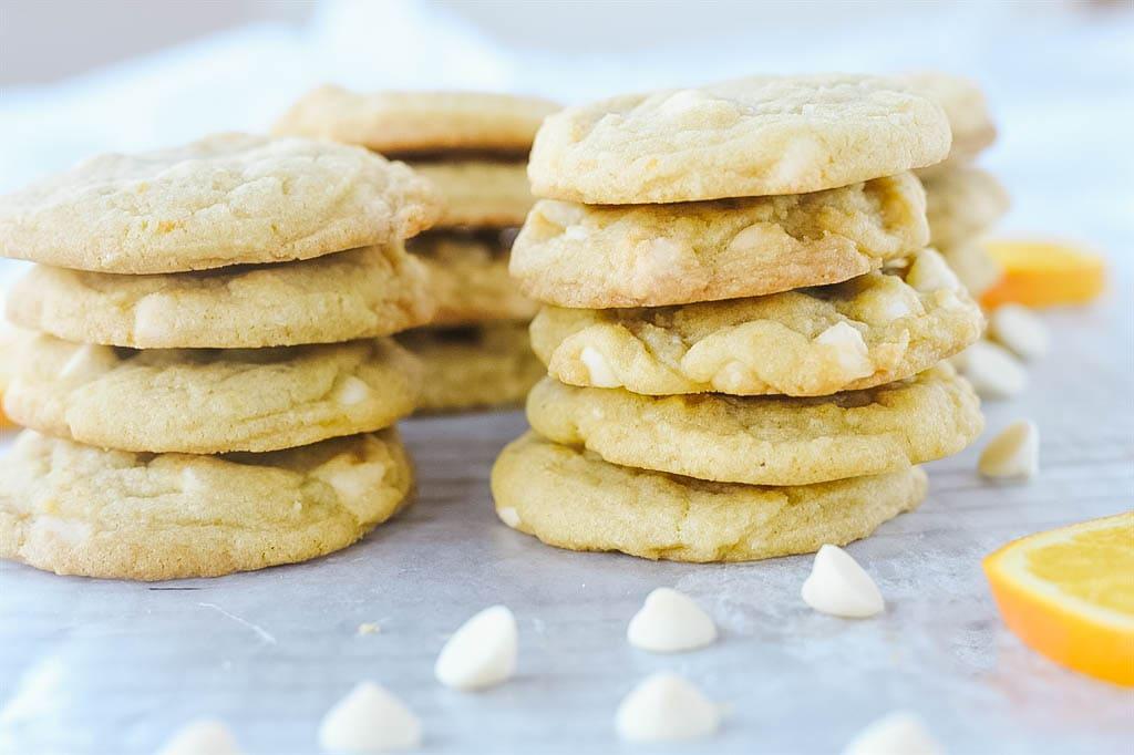 Pile of orange creamsicle cookies