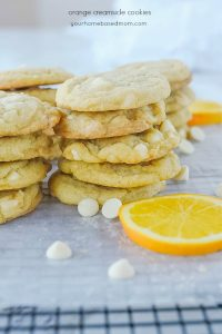 creamsicle cookies in a pile