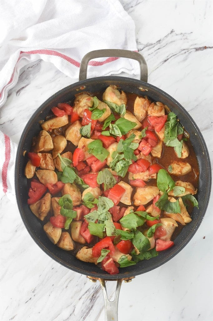 pan of Thai Basil Chicken