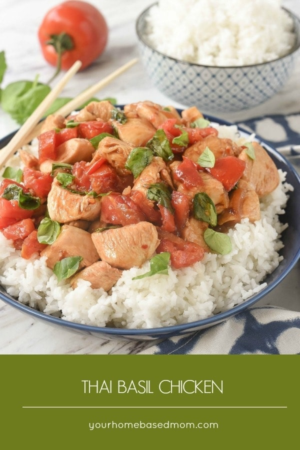 Thai Basil Chicken is a recipe your family will love.  And you will love how quick and easy it is to get on the table.