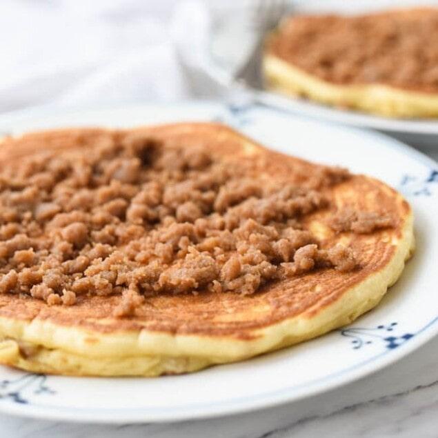streusel covered pancake