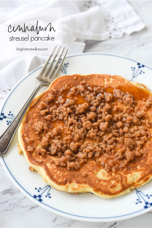 streusel pancake on a plate