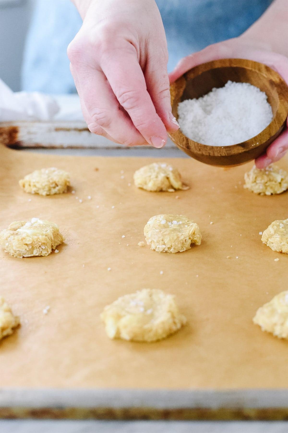 adding salt to cookies