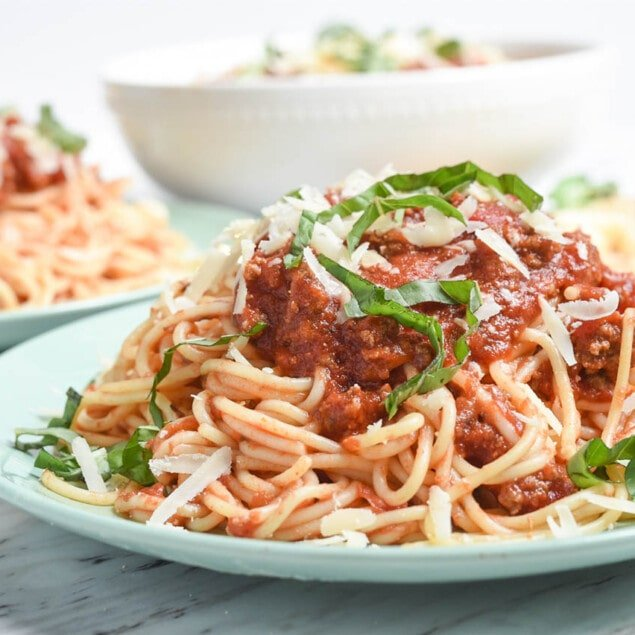 Spaghetti with Meat Sauce - C