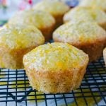 Almond Poppyseed Muffins with Orange Glaze