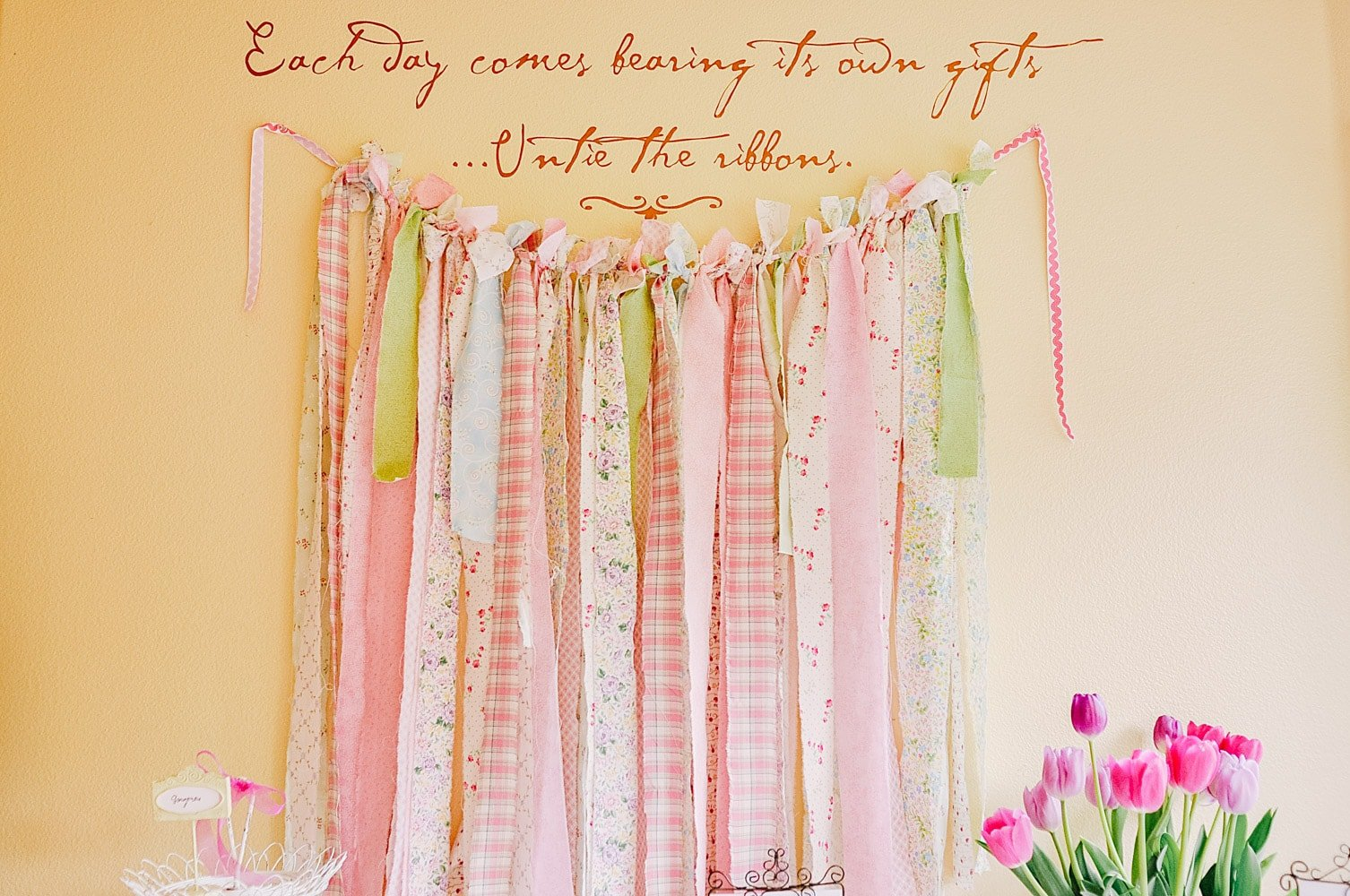 Bridal Shower wall hanging
