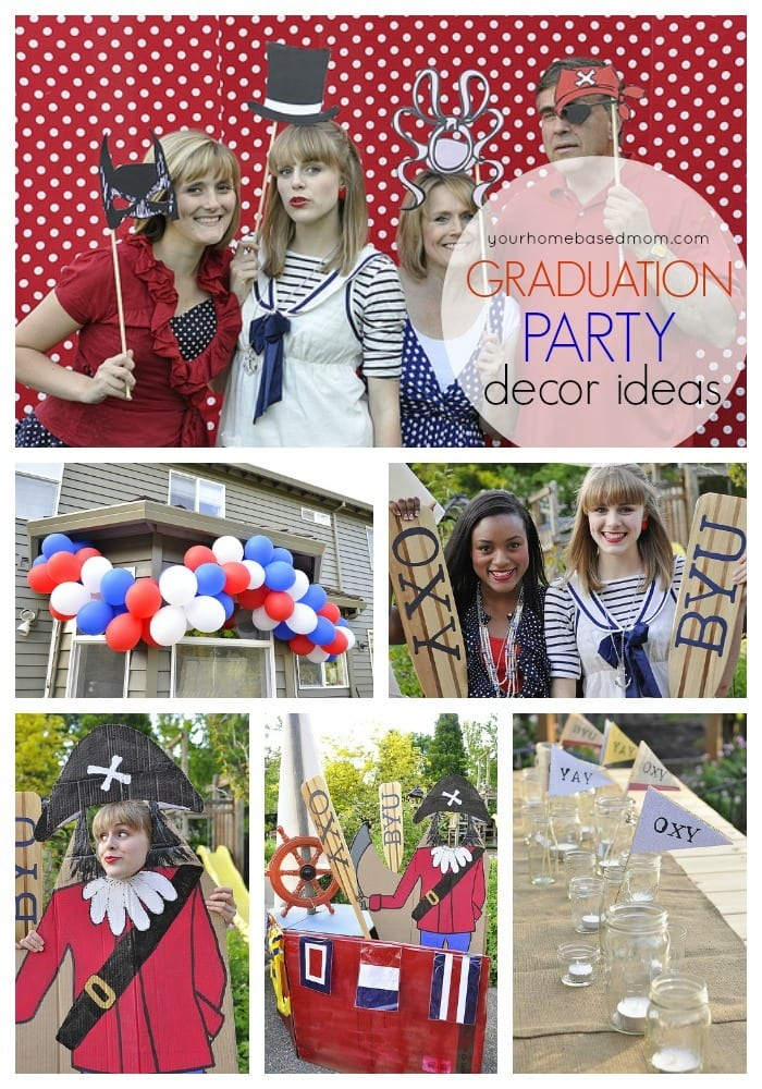 Graduation Party Decor Ideas - lots of fun ideas from yourhomebasedmom.com