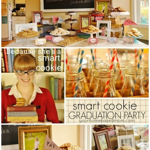 Smart Cookie Graduation Party}Milk & Cookies