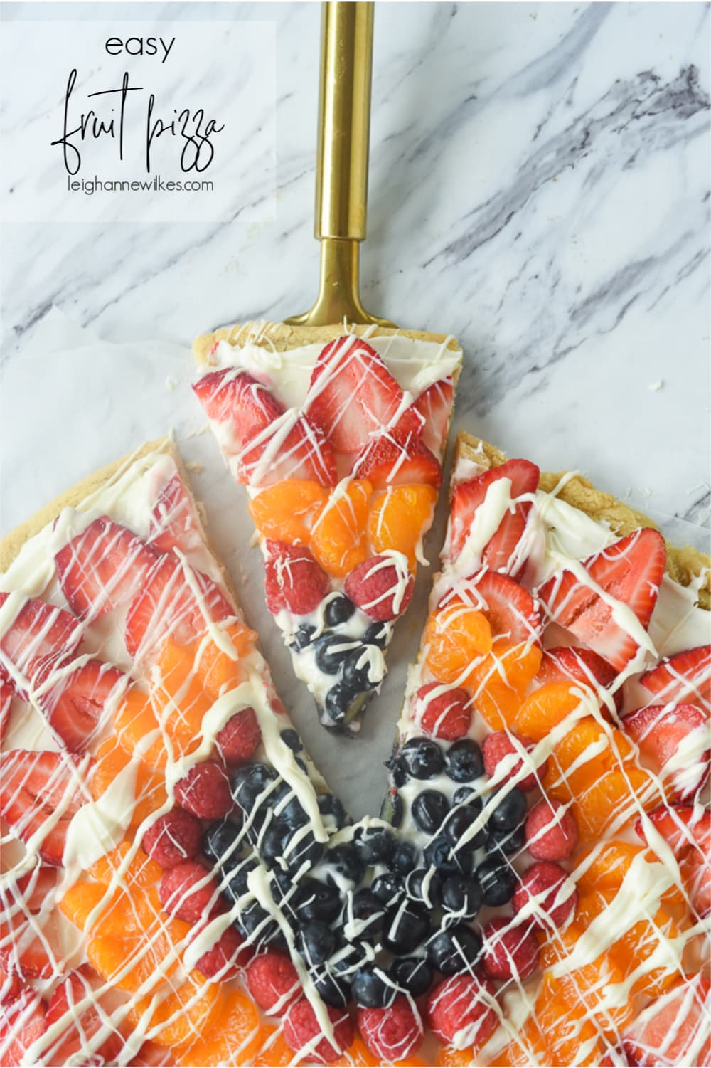 slice of fruit pizza