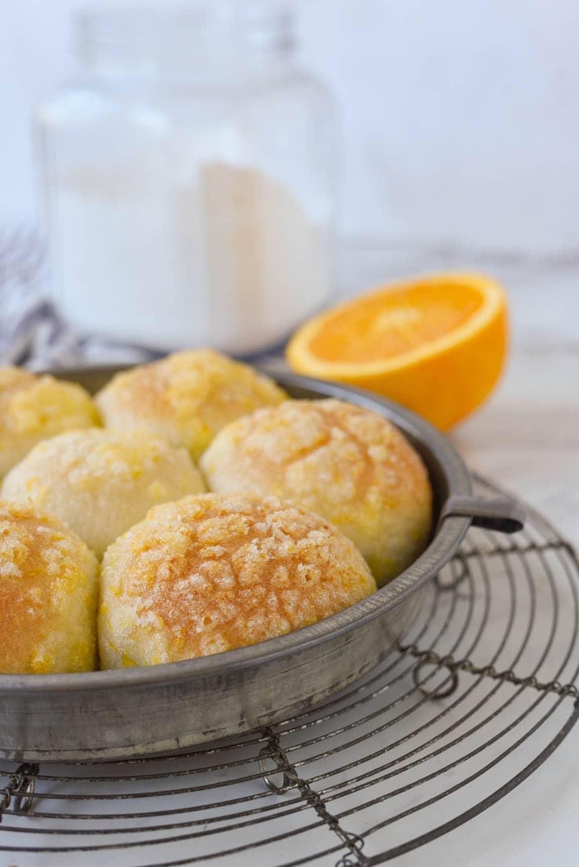 baked orange rolls