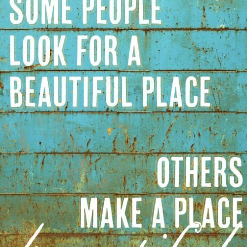 A Thought}A Beautiful Place