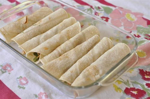 Then cover the top of the enchiladas with the remaining enchilada ...