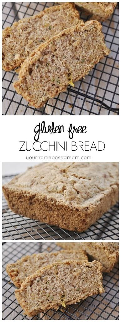 Gluten Free Zucchini Bread has great texture and flavor - perfect way to use up all your zucchini