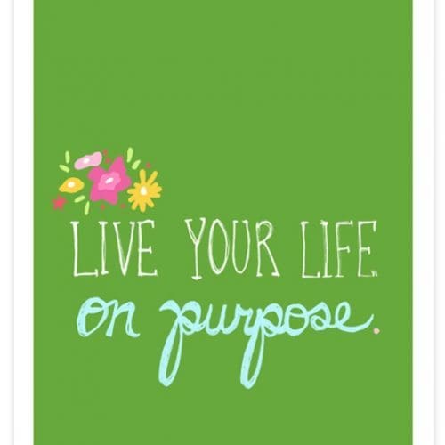 A Thought}On Purpose
