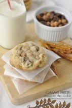 Caramel, Pretzel, Chocolate Chip Cookies