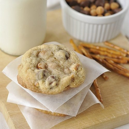 Caramel, Pretzel, Chocolate Chip Cookies
