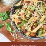 Garlic Chicken Pasta with Roasted Tomatoes