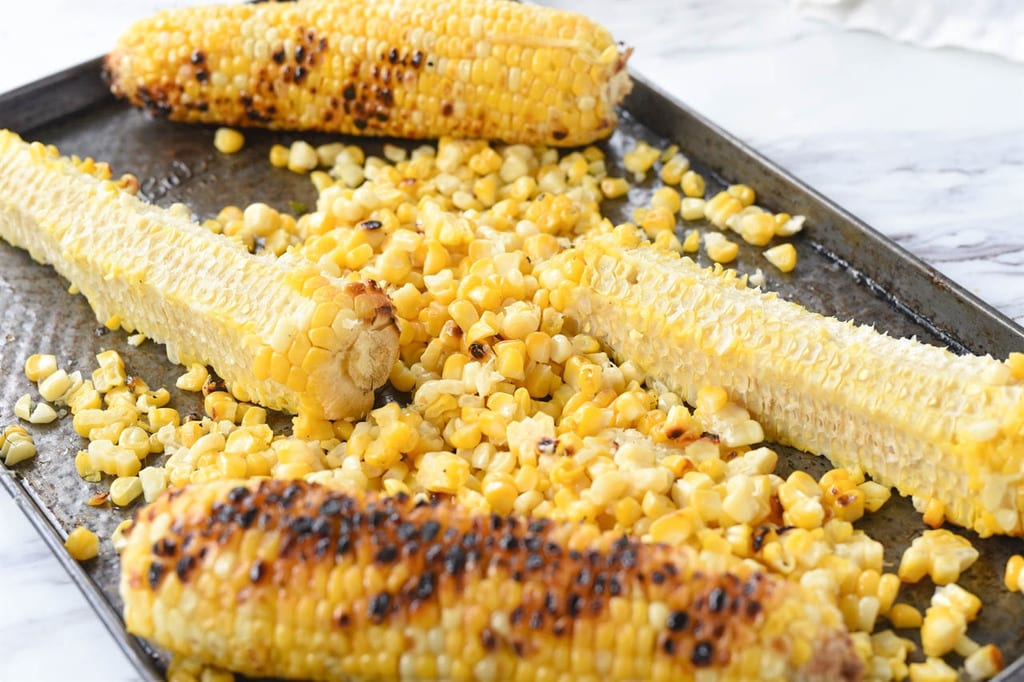 Roasted Corn on a sheet pan