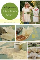 fabric flower sash