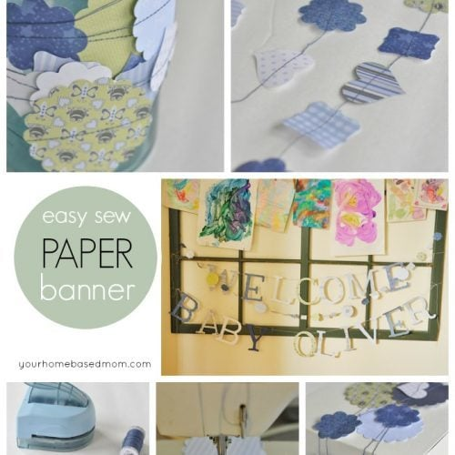 Easy Sew Paper Banner