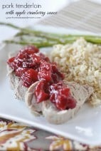 Cranberry and Apple Pork Tenderloin