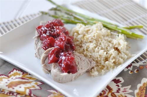 Pork Tenderloin with Apple Cranberry Sauce