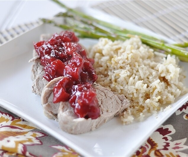 Pork Tenderloin with Apple Cranberry Sauce