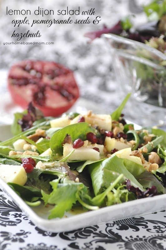 Hazelnut, Pomegrante and Apple  Salad
