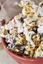 Peppermint Bark Caramel Corn