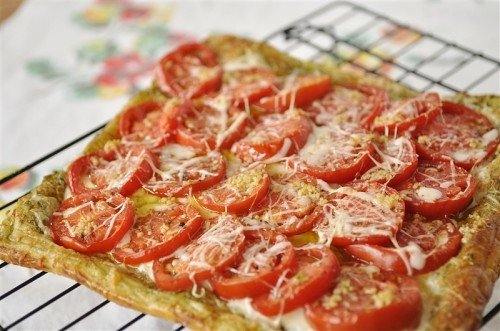 tomato tart tomato and goat cheese tart summer tomato and pesto tart ...