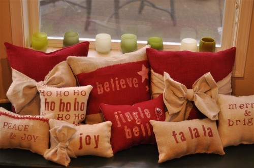 Holiday Pillows in Etsy Shop - your homebased mom