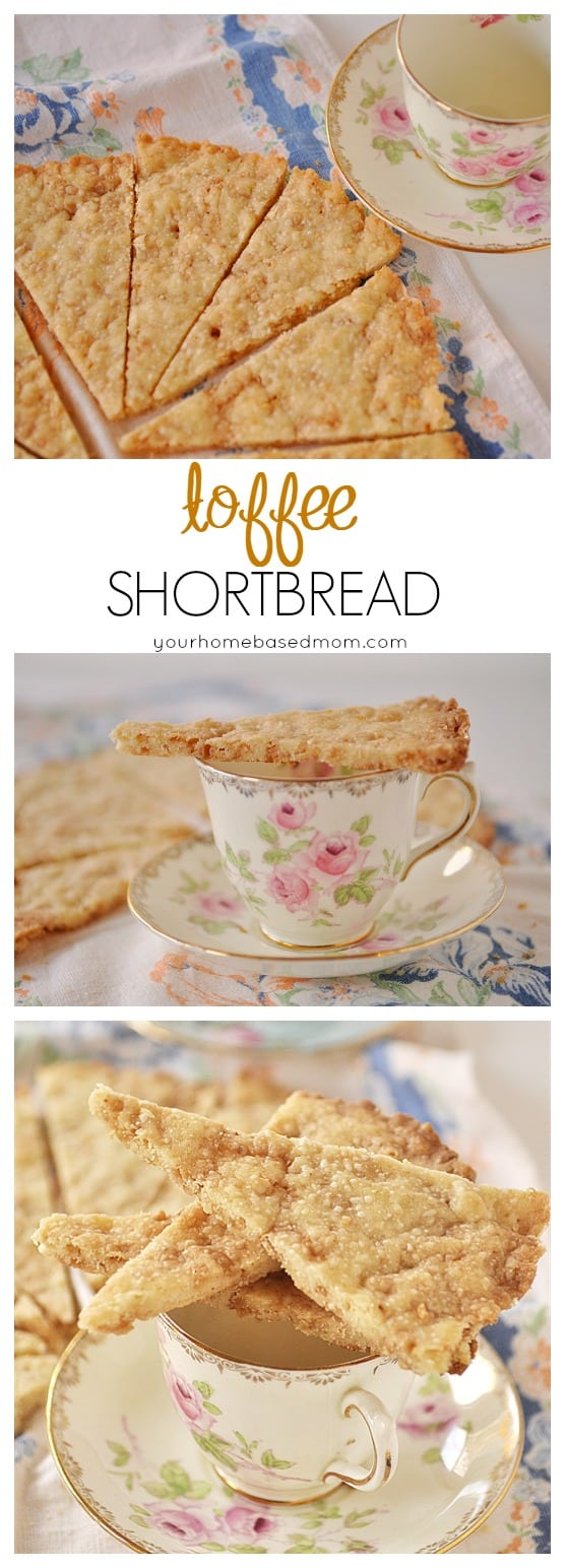 Toffee Shortbread @yourhomebasedmom.com