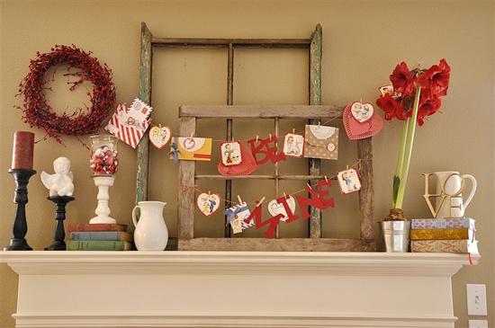 Valentine decor your homebased mom for Home valentine decorations