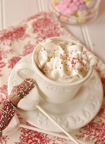Malted Hot Chocolate Mix, Marshmallow Stir Sticks and a Printable